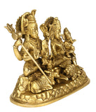 Shiv Parivar Brass Sculpture 6.50""