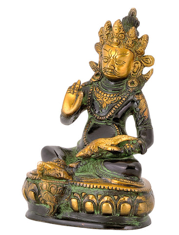 Lord Dhan Kuber Brass Statue
