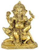 Lord Vighnaharta Ganesha - Brass Sculpture