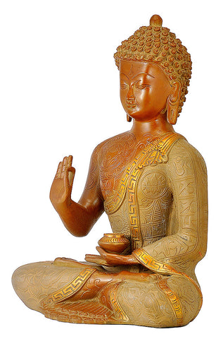Antiquated Brass Buddha