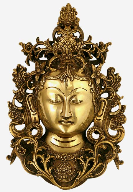 Shri Tara Devi - Brass Wall Sculpture