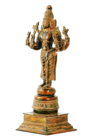 Lord Vishnu Statue in Antique Finish