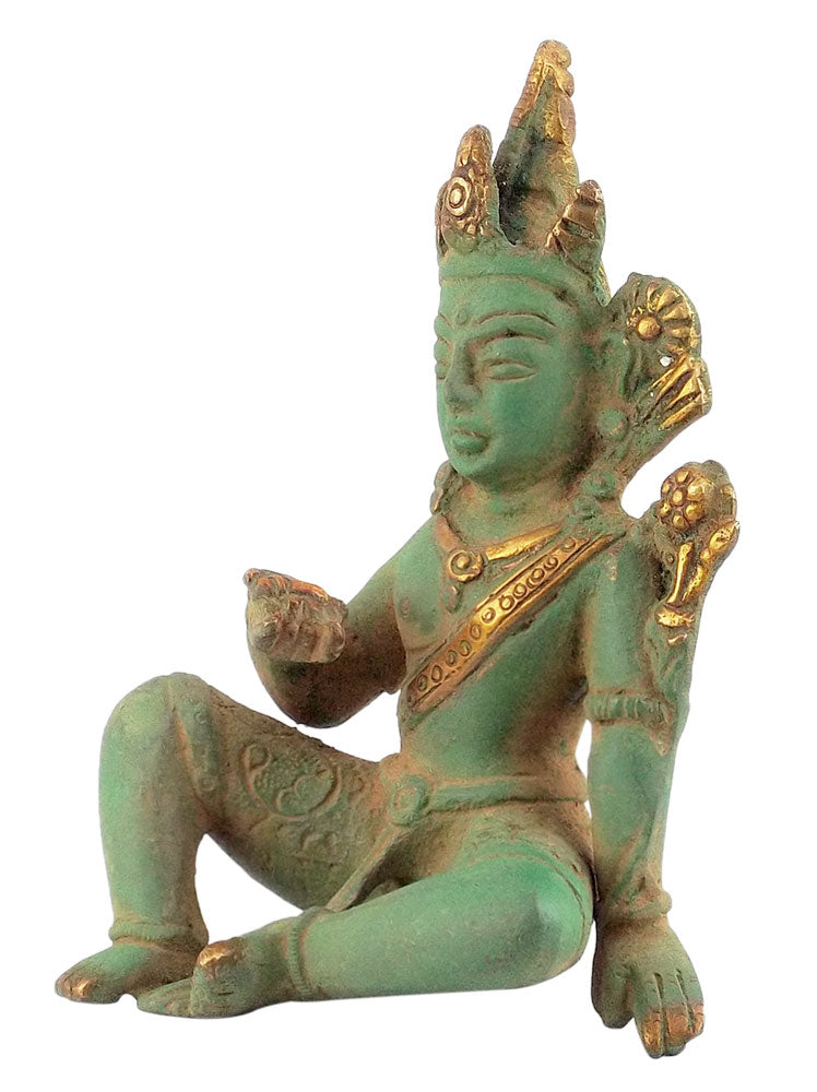 Devraja Lord Indra Antiquated Statue