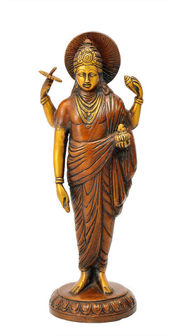 God Dhanvantari Brass Figure 12.75""