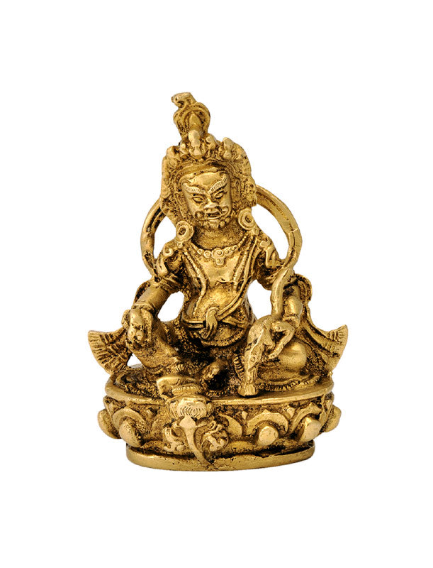 Seated Lord Kuber - Brass Figure