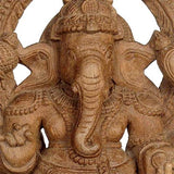 'Ganesha' Lord of Success - Wood Statue