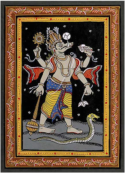 Lord Varaha - Patachitra Painting