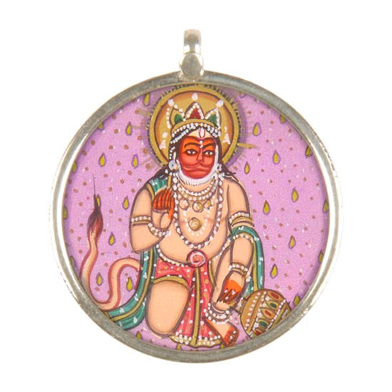 Blessing Hanuman - Small Pendant