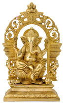 Lord Ganpati Figurine with Arched Aureole