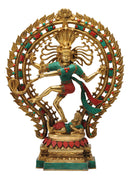 Lord Nataraja Studded with Reconstituted Coral & Turquoise