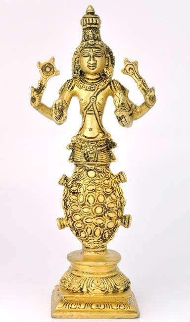 Avatar of Lord Vishnu 'Kurma' Brass Statue