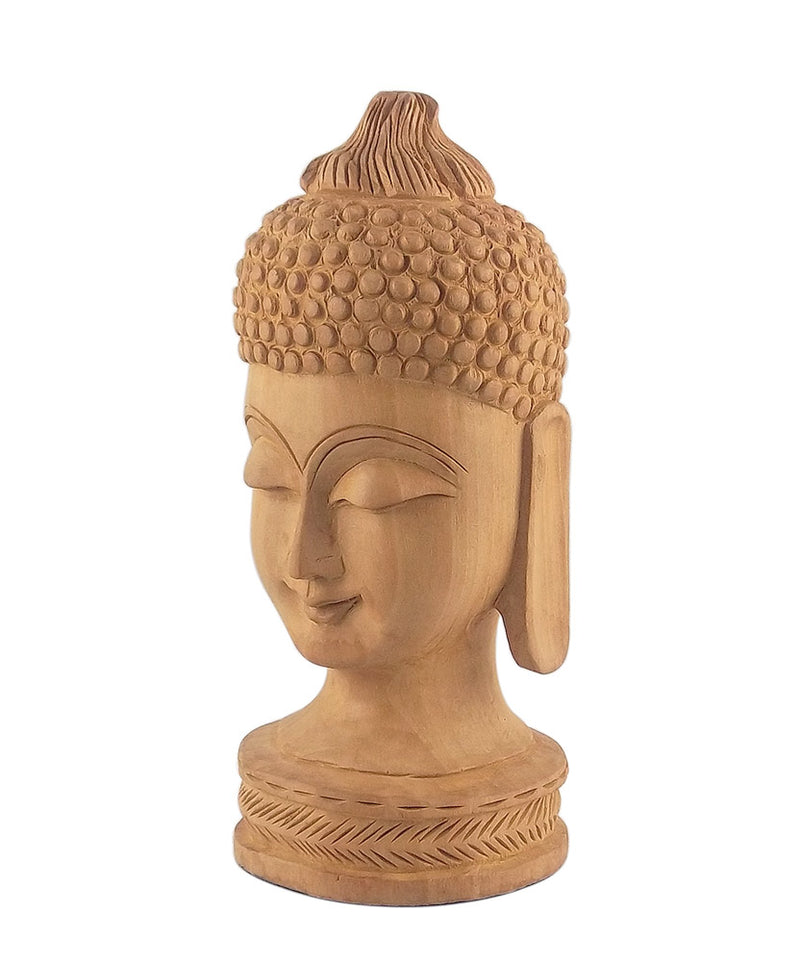 God Buddha Hand Carved Wooden Figurine