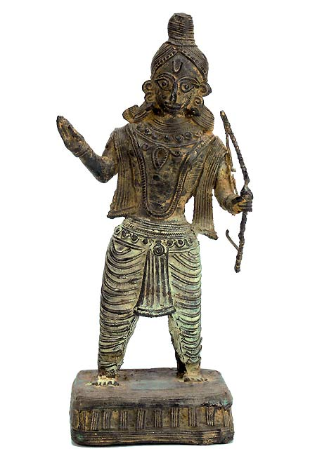 Tribal's Lord Ram - Dhokra Sculpture