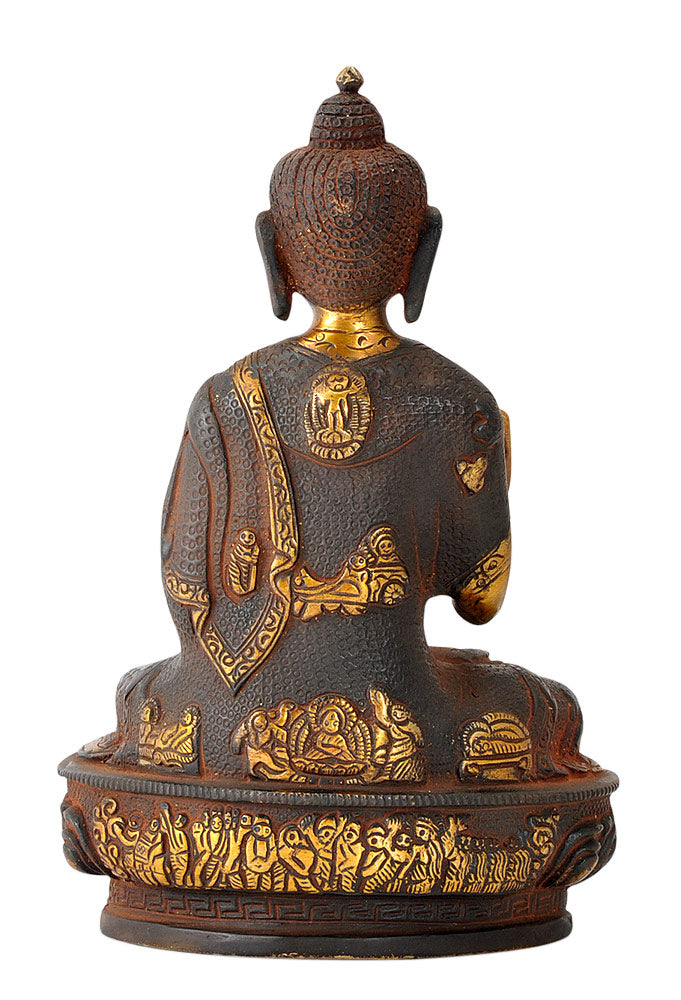 Ethnic Brass Buddha Golden Brown Finish