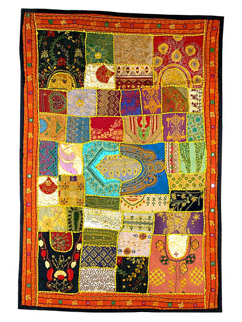 Flight of Dreams-Colorful Indian Tapestry