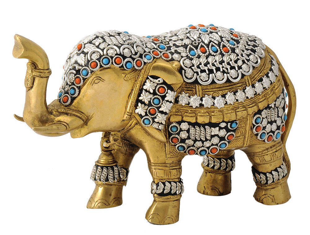 Royal Asian Elephant Brass Statue