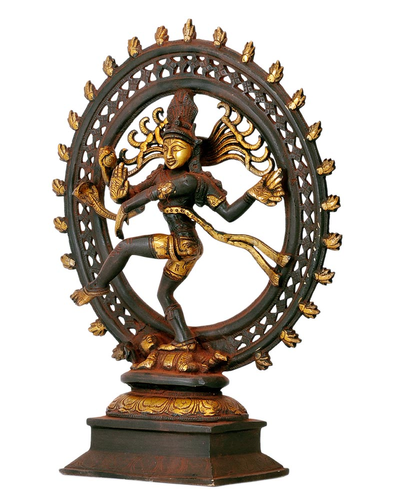 God of Dance Nataraj Shiva - Antiquated Brass Statue 13""