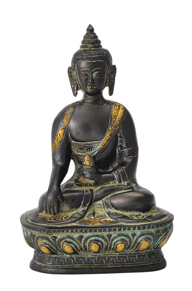 Medicine Buddha Figure in Antique Finish