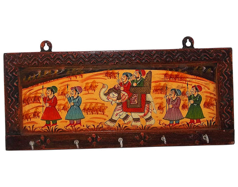 Royal Safari - Painted Wooden Key Holder