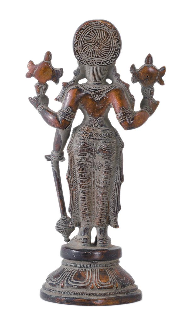 Sri Vishnu Bhagwan Antique Finish Statue