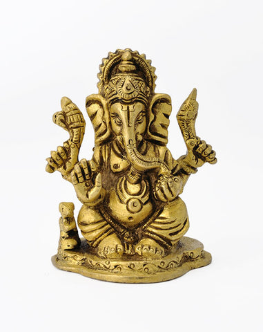 Seated Lord Ganapati - Miniature Statue