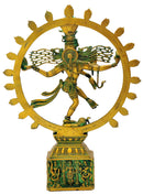 Antiquated Nataraja Brass Statue