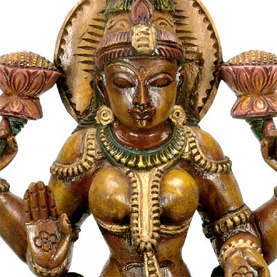 Goddess of Wealth and Prosperity - Wood Carving