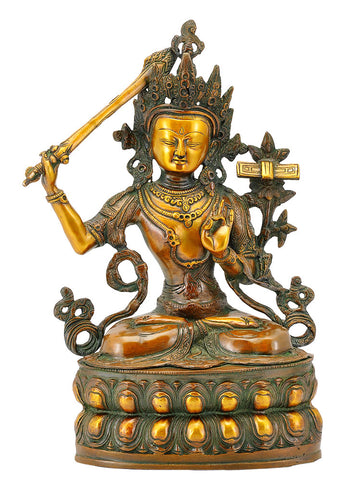 Lord Manjushree - Chinese God Sculpture