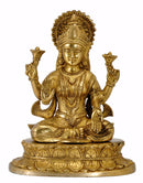 Hindu Goddess Lakshmi Seated on Lotus