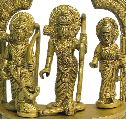 Rama and His Family - Brass Statuette 7""