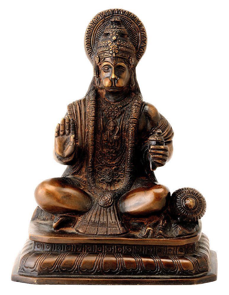 Sri Rama Bhakta Hanuman Statue in Antique Finish