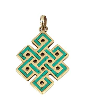 The Endless Knot - Buddhist Pendant