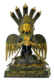 Antiquated Brass Naag Kanya Statue 12.50""