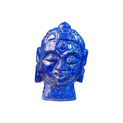 Buddha Head Carved in Lapis Lazuli