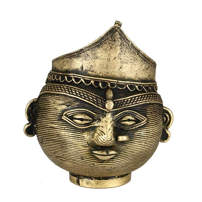 Bell Metal Pot 'Lady Head'