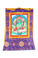 Green Tara - Hanging Scroll Painting