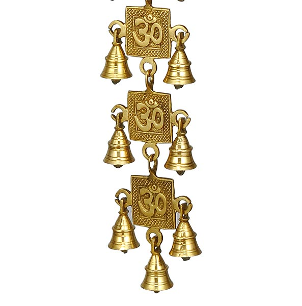 'AUM' The Sacred Word - Brass Bell Hanging