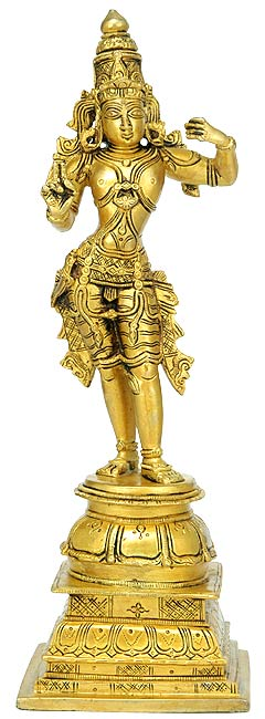 Mighty Lord Rama Brass Sculpture