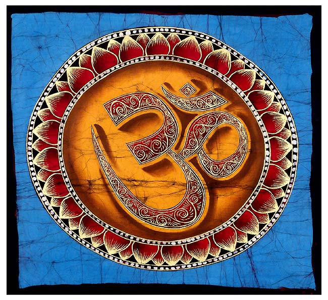 Aum the Sacred Word - Handmade Batik Print