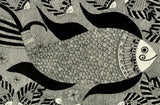 Dancing Fishes - Madhubani Painting