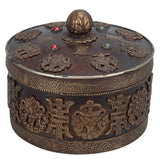Buddhist Ritual Box with Ashtamangala Symbols