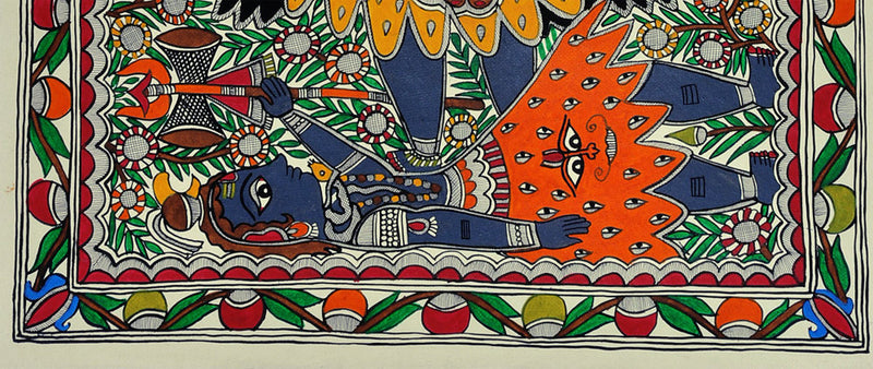 Mother Goddess Kali - Madhubani Painting on Handmade Paper 30'