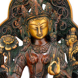 Beautiful Goddess Tara - Brass Sculpture 9.5""