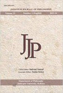 Jadavpur Journal of Philosophy (Vol. 23, no. 1) [Paperback] Indrani Sanyal