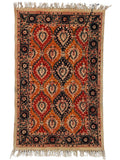 Red Mughal Garden Rug