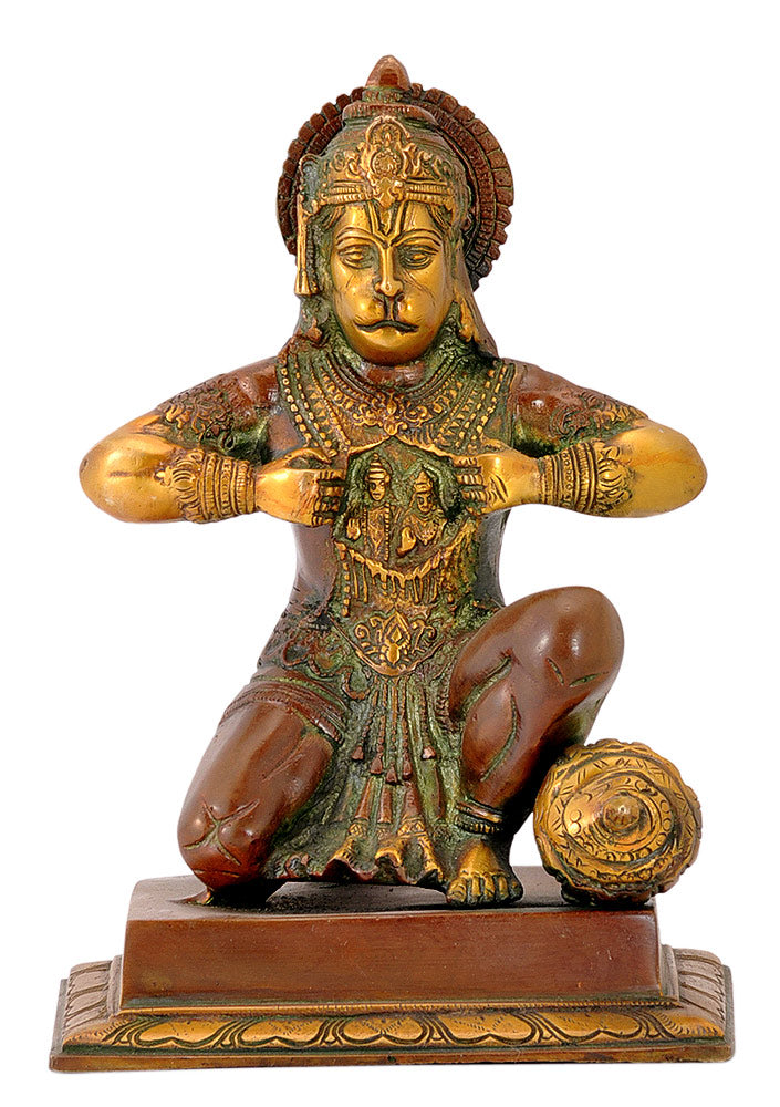 Beloved God Hanuman - Brass Statuette