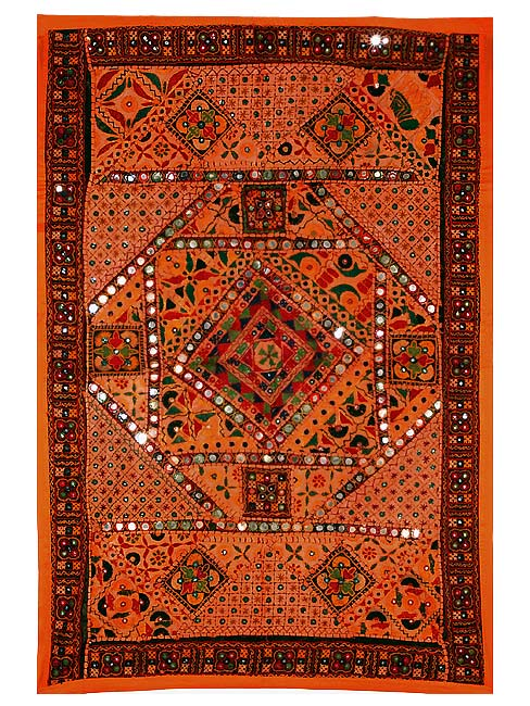 Orange Wonder - Kutchi Tapestry