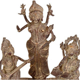 Lakshmi, Ganesh and Saraswati - Lost Wax Craft