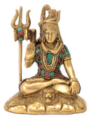 Lord Shiva Mahadev Brass Sculpture