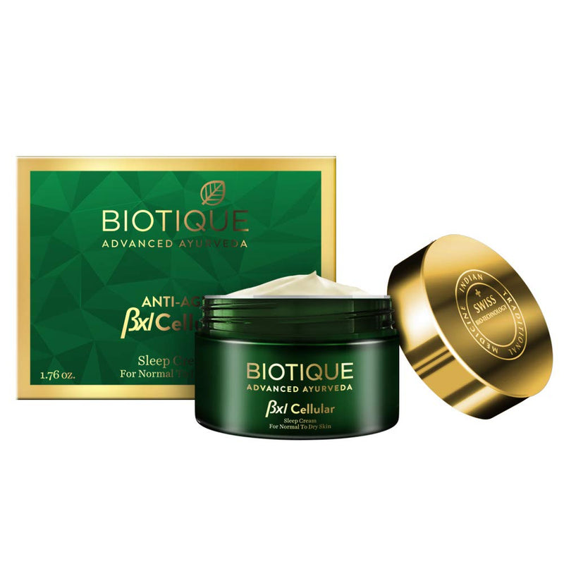 Biotique Bxl Cellular Wheat Germ Sleep Cream, 50g